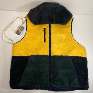 KITH Sherpa Vest Hoodie - Solar Yellow - NWT - XL